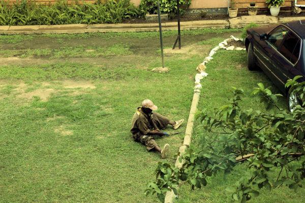 Niets met de blog te maken maar zo arbo vriendelijk wordt het grasveld achter het huis gemaaid