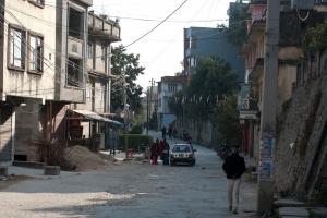 Straat in Kathmandu